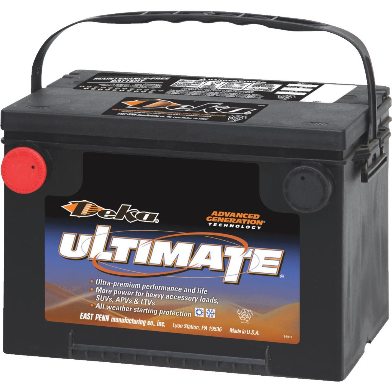 Deka Ultimate 12-Volt 800 CCA Automotive Battery, Side Post Left Front Positive Terminal Image 1