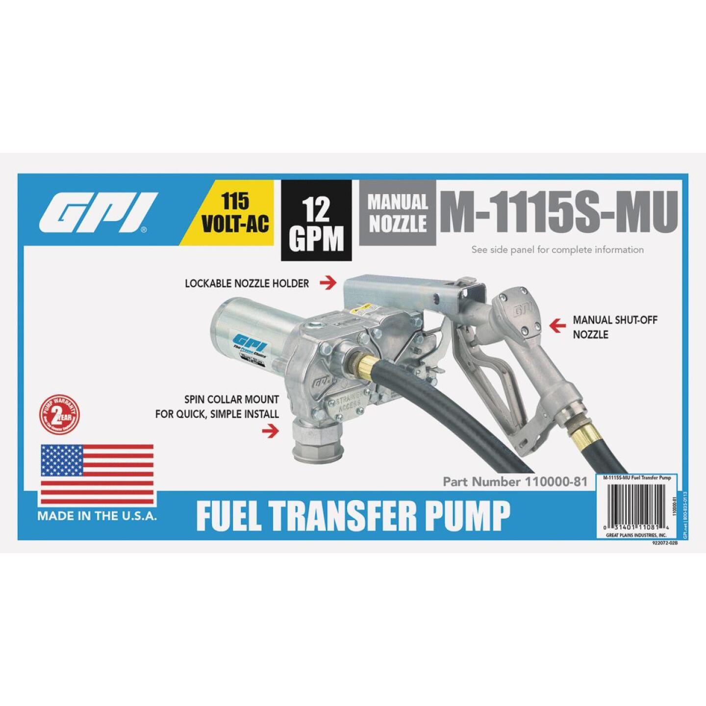 GPI 115V AC, 12 GPM Stationary Fuel Transfer Pump Image 2
