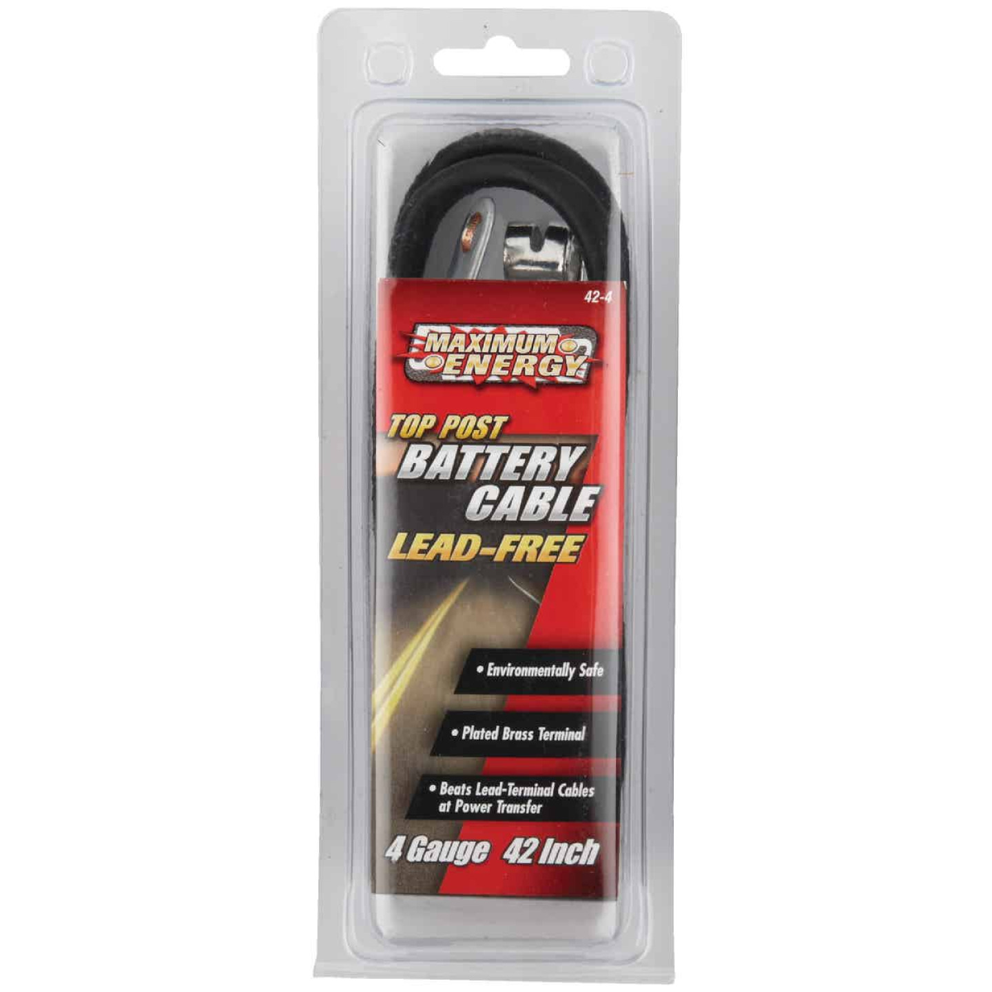Road Power 42 In. 4 Gauge Top Post Battery Cable Image 2