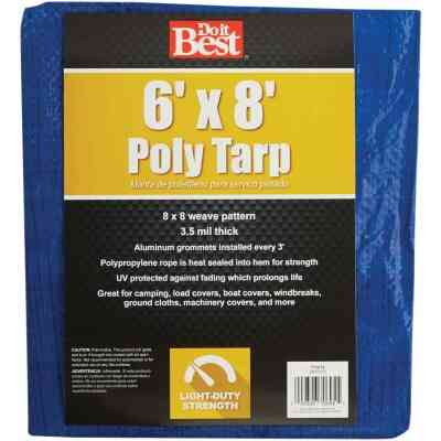 Do it Best Blue Woven 6 Ft. x 8 Ft. General Purpose Tarp