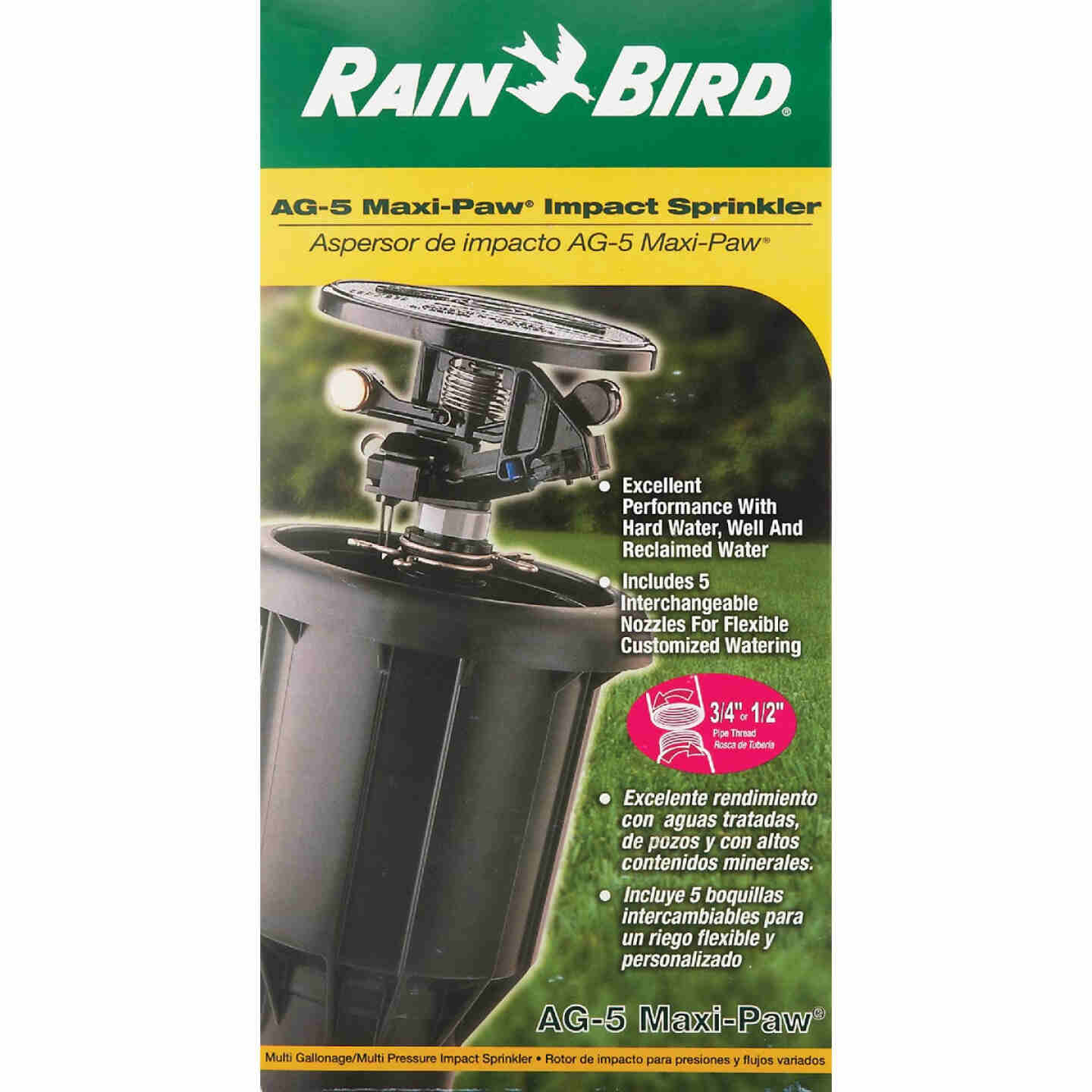 Rain Bird 3 In. Full or Partial Circle Deluxe Pop-Up Impact Head Sprinkler Image 4