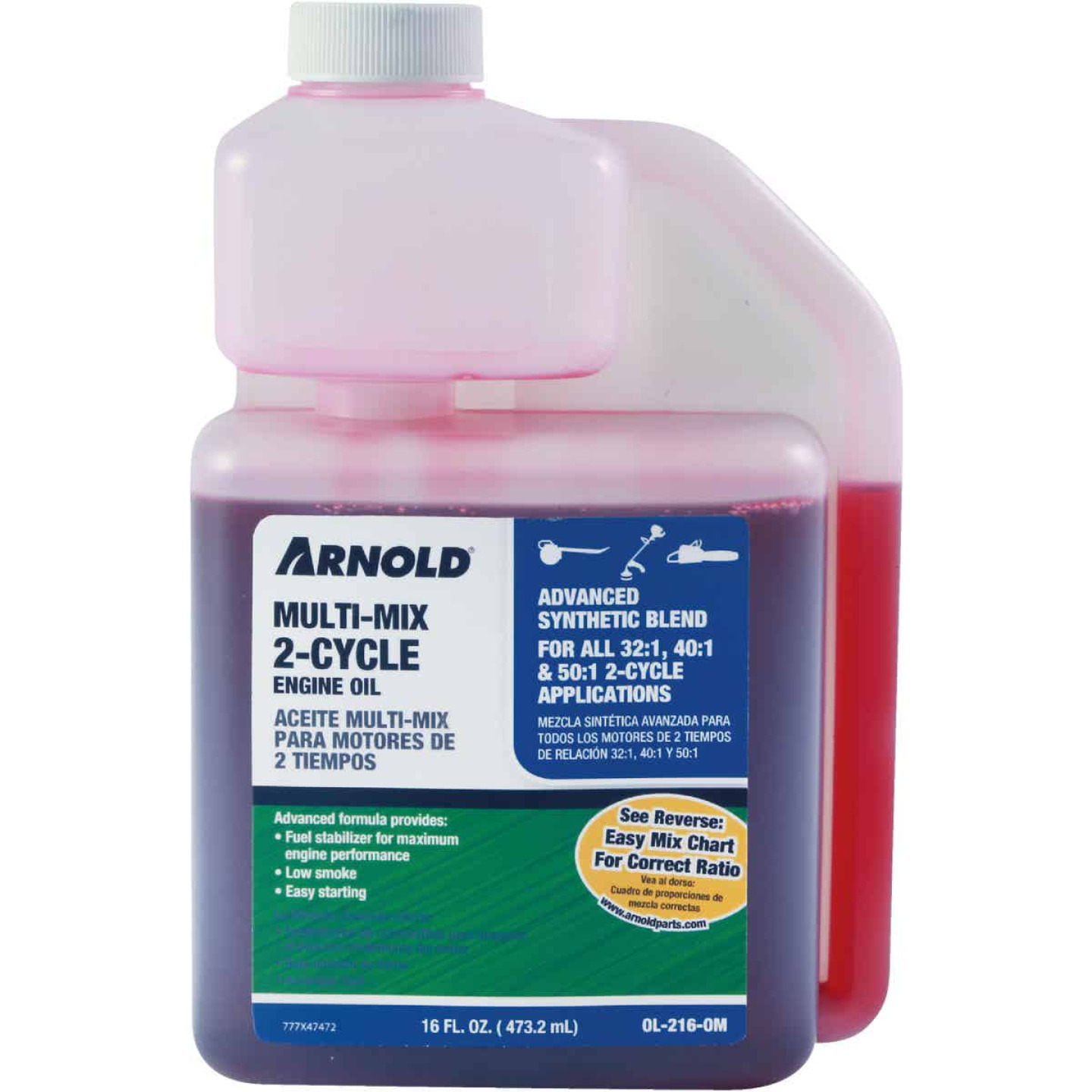 Arnold 16 Oz. Synthetic Blend Multi-Mix 2-Cycle Motor Oil Image 1