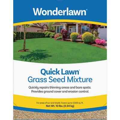 Wonderlawn Quick Lawn 10 Lb. 3000 Sq. Ft. Coverage Annual & Perennial Ryegrass Grass Seed