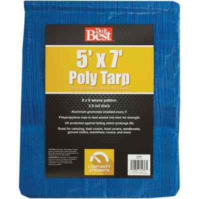 Do it Best Blue Woven 5 Ft. x 7 Ft. General Purpose Tarp